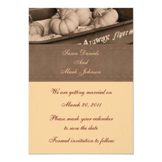 Sepia Indian Corn Fall Wedding Save The Date 13 Cm X 18 Cm Invitation Card