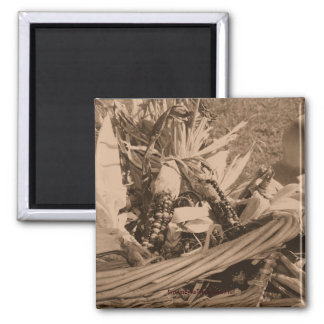 Sepia Indian Corn Nature Photography Magnet