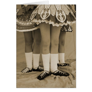 Sepia Irish Dance Card