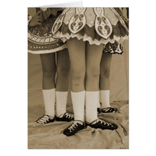 Sepia Irish Dance Card