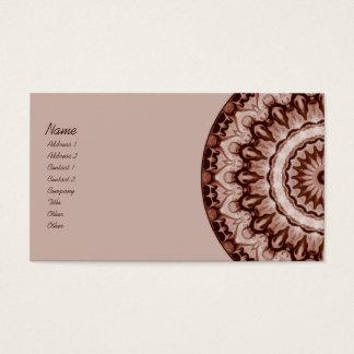 Sepia Kaleidoscope Business Card