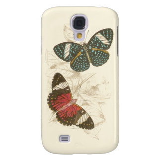 Sepia Leaves with Colorful Butterflies Galaxy S4 Case