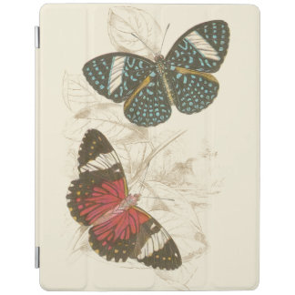 Sepia Leaves with Colorful Butterflies iPad Cover