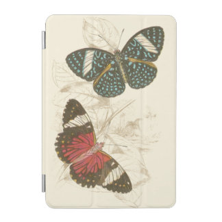Sepia Leaves with Colorful Butterflies iPad Mini Cover