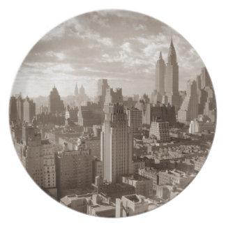 Sepia New York City Plate