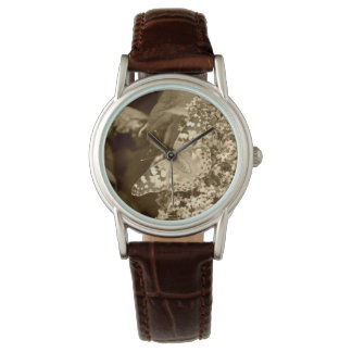 Sepia Painted Lady Butterfly Watch
