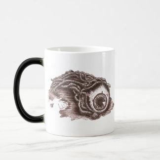 Sepia Pen and Ink Eyeball Morphing Mug