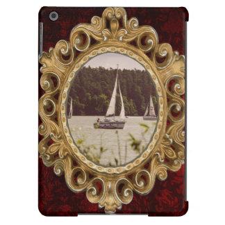 Sepia Photograph Of Sailboats On A Lake Cover For iPad Air