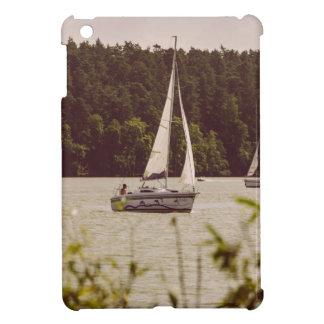 Sepia Photograph Of Sailboats On A Lake iPad Mini Case