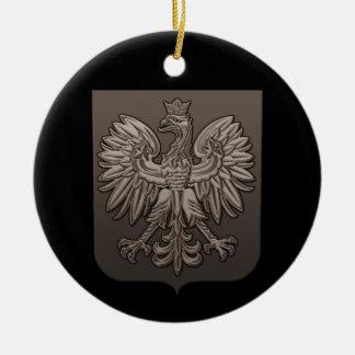 Sepia Polish Eagle Shield Christmas Ornament