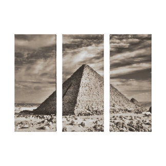 Sepia Pyramid Canvas Print
