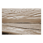 sepia reflections and calm waves poster