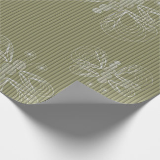 Sepia retro pattern with butterflies, fabric wrapping paper