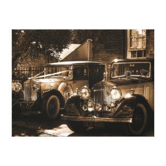 Sepia Rolls Royce Canvas Print