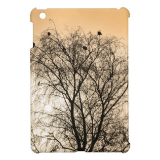 Sepia Roosting birds Cover For The iPad Mini
