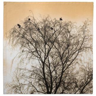 Sepia Roosting birds Napkin