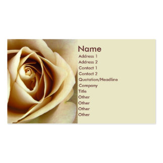 Sepia Rose Business Card Template