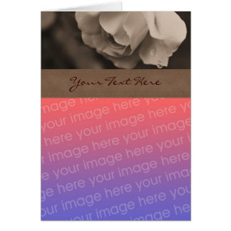 Sepia Rose Floral Photo Card