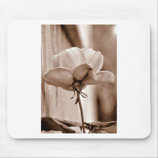 Sepia Rose Flower Photo Design Mouse Pad