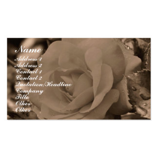 Sepia Rose Flower Photography Business Card
