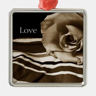 Sepia Rose Premium Ornament