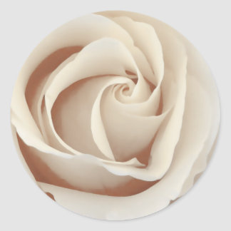 Sepia Rose Classic Round Sticker