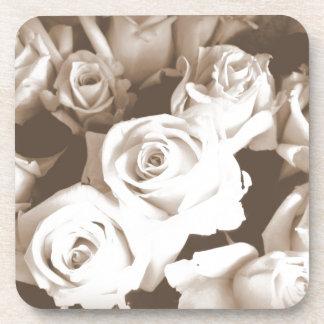 Sepia Roses Drink Coaster