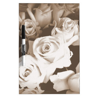 Sepia Roses Dry-Erase Boards