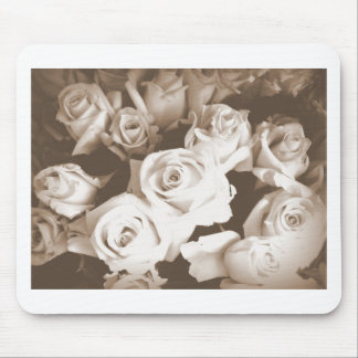 Sepia Roses Mouse Pads