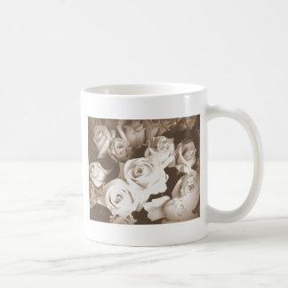 Sepia Roses Coffee Mug