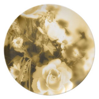 Sepia Roses Photography Plate