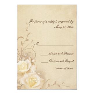 Sepia Roses RSVP Cards