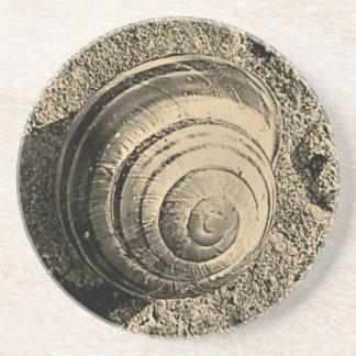 Sepia Snail Coaster