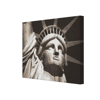 Sepia Statue of Liberty NYC Canvas Print