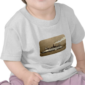 Sepia Steamboat Ferry Tee Shirts