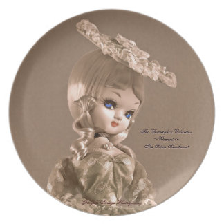 Sepia Sweetheart Doll Plate