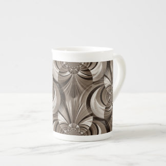 Sepia Swirl Bone China Mug