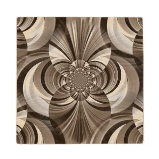 Sepia swirl wooden coaster