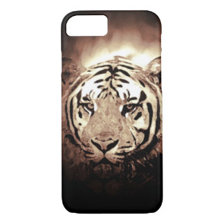 Sepia Tiger iPhone 7 Case