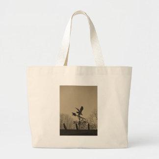 Sepia Tone Eagle Weather vane Canvas Bags