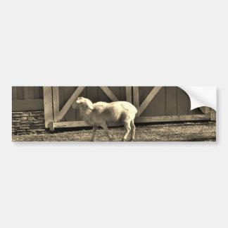 Sepia Tone Goat and Barn Doors Bumper Stickers