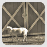Sepia Tone  Goat and Barn Doors Stickers