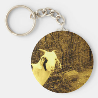Sepia tone Goat Key Chains