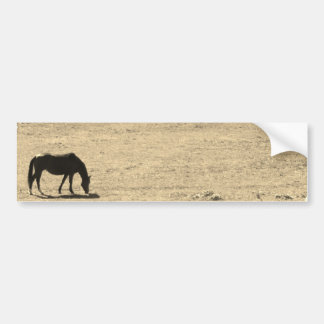 Sepia Tone Photo of brown Horse with flowers Bumper Stickers