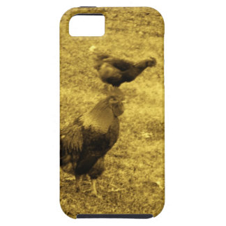 Sepia Tone Rooster in the Yard iPhone 5 Cover