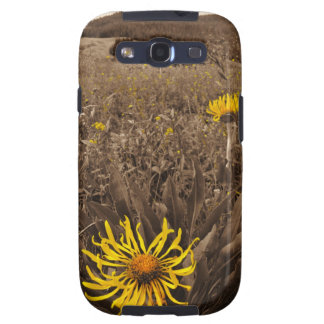 Sepia tone Yellow wildflowers Galaxy S3 Case