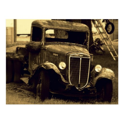 Sepia Toned Antique Vintage Truck Post Cards