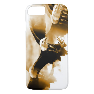 Sepia Tones Flying Eagle iPhone 7 Case