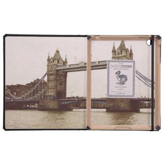 Sepia Tower Bridge, London, United Kingdom iPad Folio Cases
