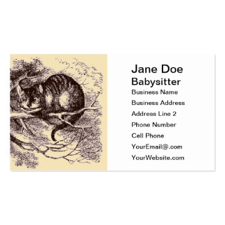 Sepia Vintage Cheshire Cat Alice in Wonderland Pack Of Standard Business Cards